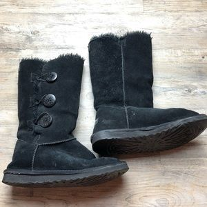 Ugg Bailey Button triplet Black Boots